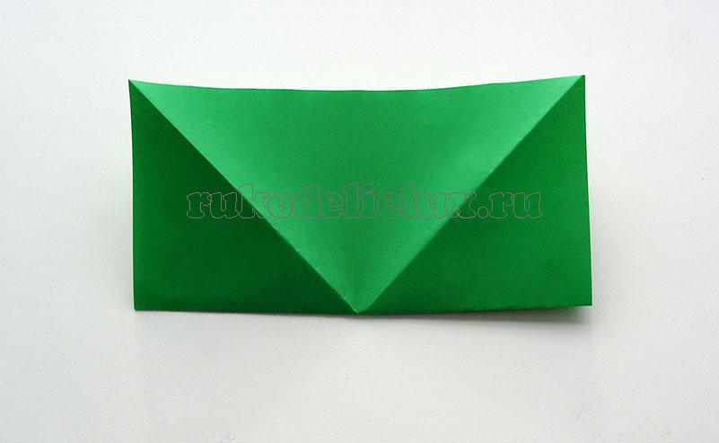 Как сделать лягушку из бумаги в технике оригами - 1 способ
