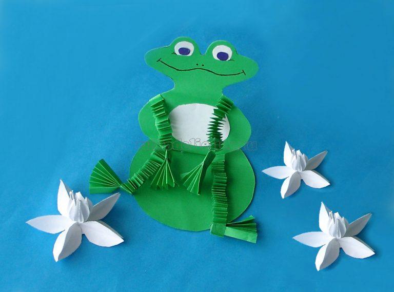 Жаба поделка из бумаги