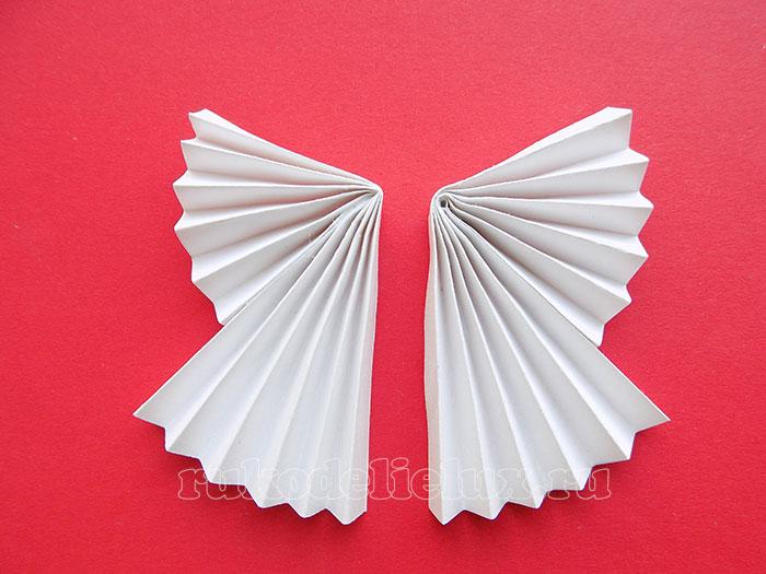 Рождественский ангелочек из бумаги - игрушка на ёлку