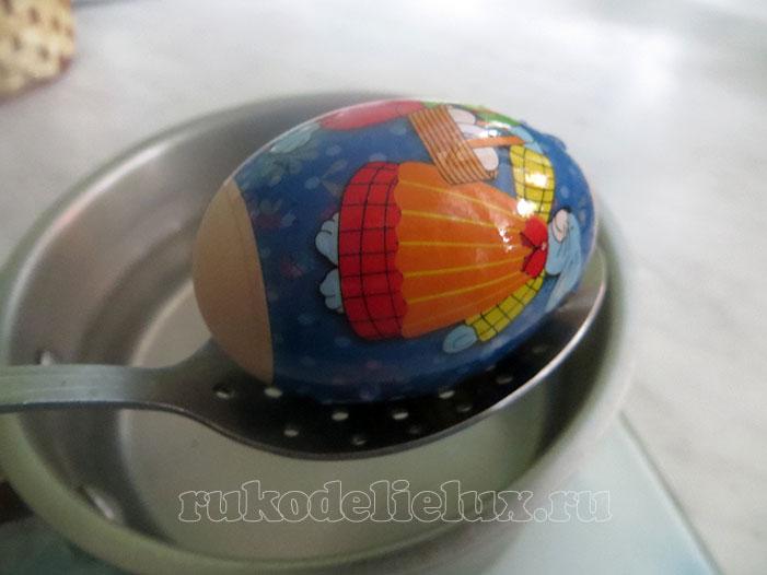 пасхальное яйцо с термоэтикеткой