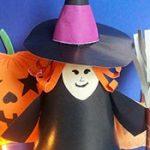 Как сделать ведьму из бумаги на Хэллоуин
