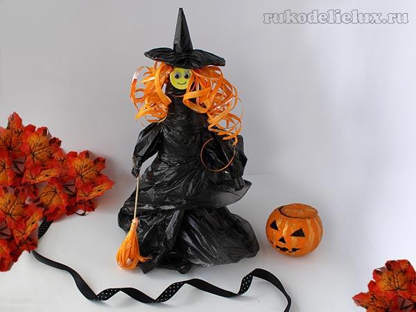Ведьма своими руками для украшения интерьера на Хэллоуин