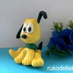 Как слепить желтого щенка из пластилина