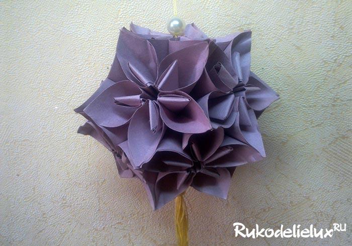 Кусудама цветочный шар Колокольчики