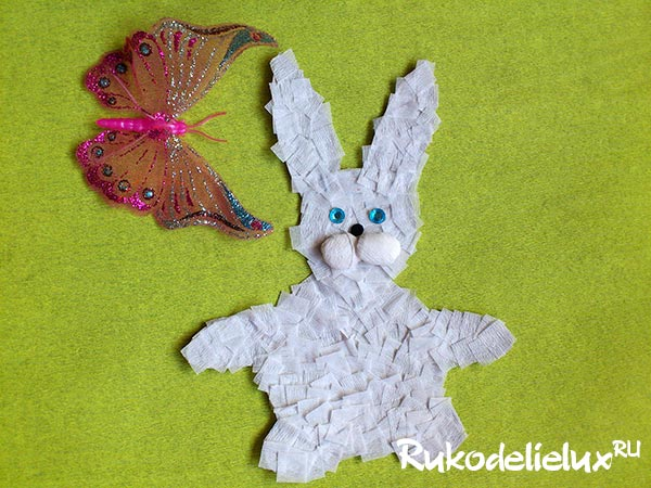Пасхальный кролик своими руками из бумаги