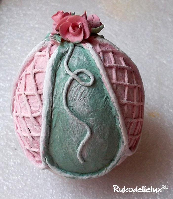 Пасхальное яйцо в стиле шебби шик