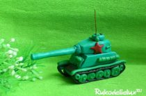 Как сделать танк на 9 мая своими руками