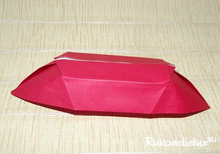 Как сделать из бумаги лодочку фото 346