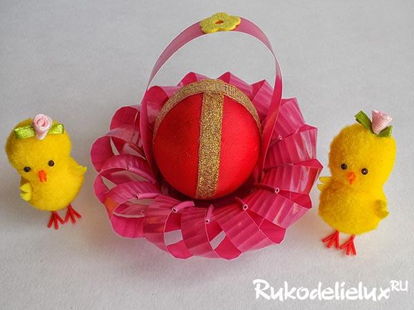pashalnaya-korzinka Пасхальная корзинка с зайцами своими руками