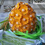 Как сделать цветочное пасхальное яйцо