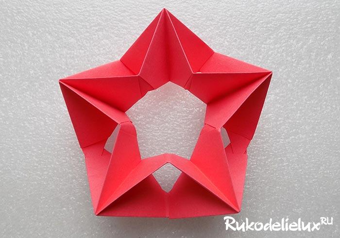Звезда модульное оригами