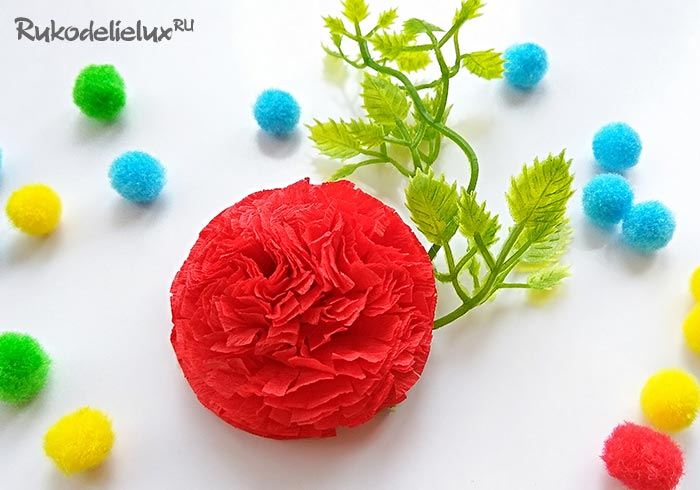Easy way to create carnations from corrugated paper