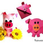 Как сделать свинью из бумаги — 3 варианта