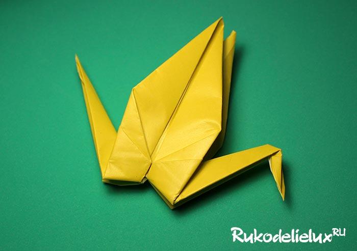 Крылья журавля из бумаги