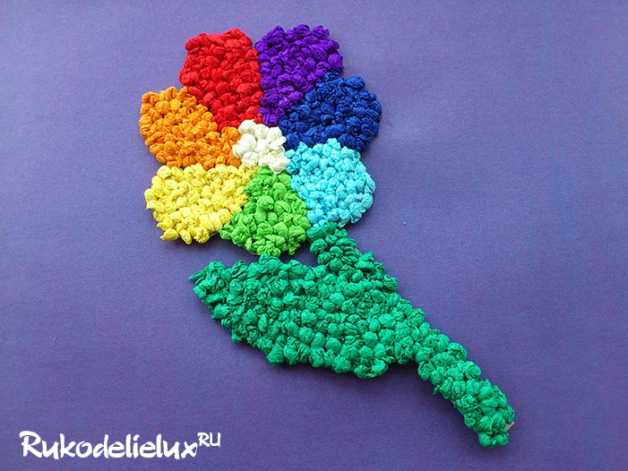 Семицветик из гофрированной бумаги