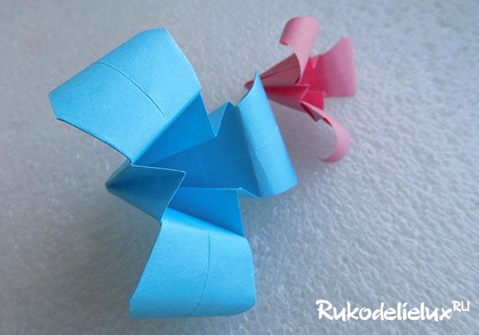 Цветы ириса оригами