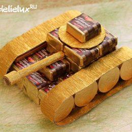 Танк из конфет — мастер-класс