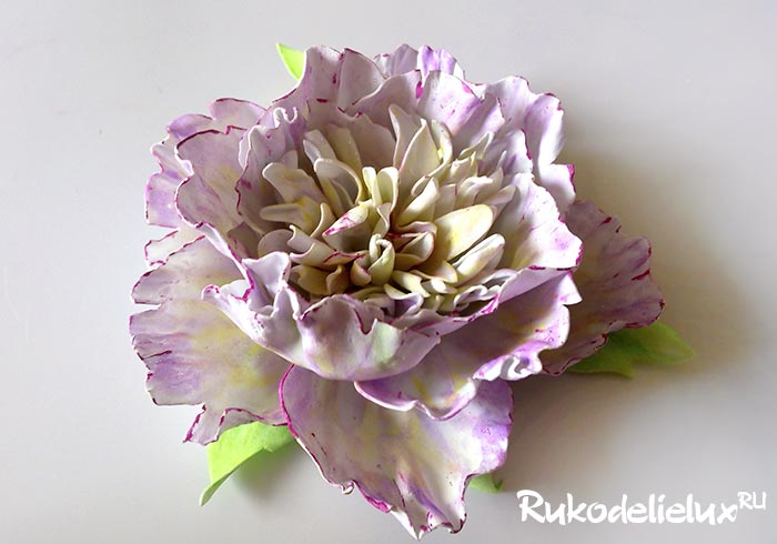 Цветок пиона из фоамирана