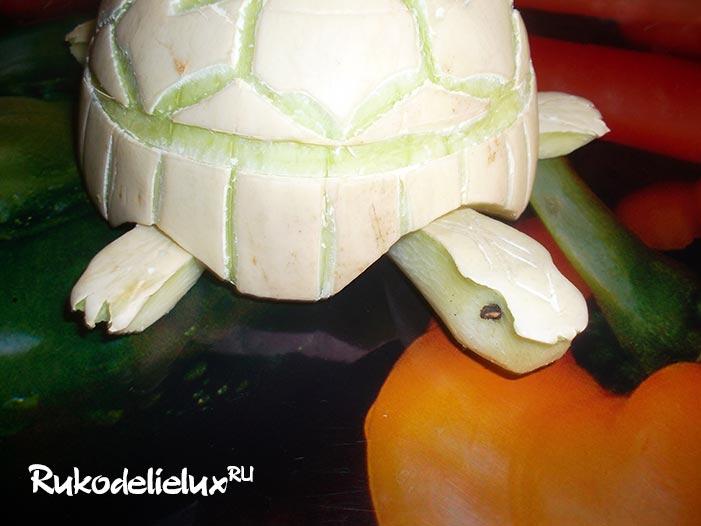 Как сделать черепаху из кабачка