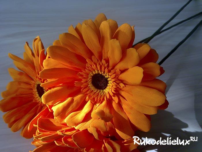 Цветы гербера из фоамирана