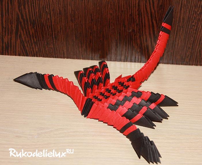 Скорпион в технике модульное оригами