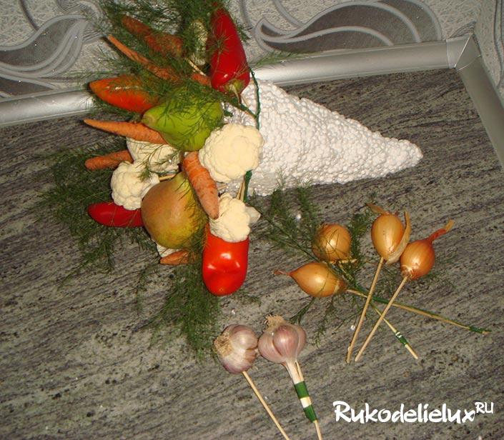 Букет из овощей своими руками