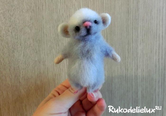 Мышка из шерсти