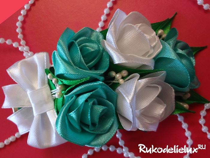 Как сделать розы канзаши