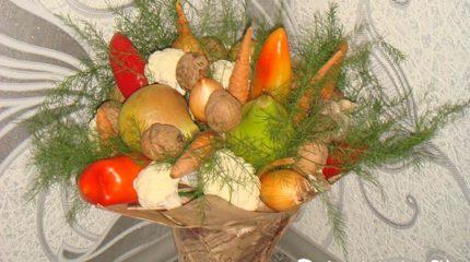Как сделать букеты из овощей