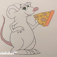 Как нарисовать мышку и крысу поэтапно