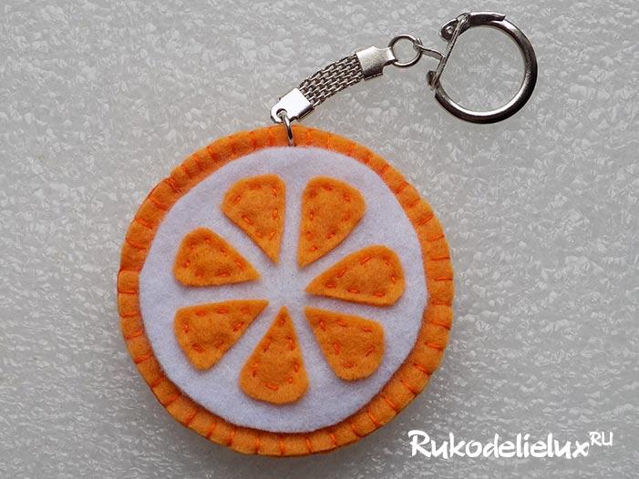 Поделка апельсин из фетра