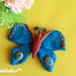 Как слепить бабочку из пластилина