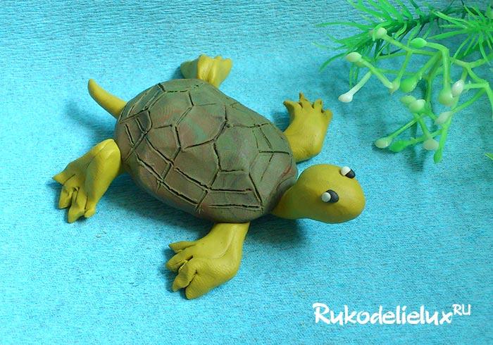 Пластилиновая черепаха своими руками