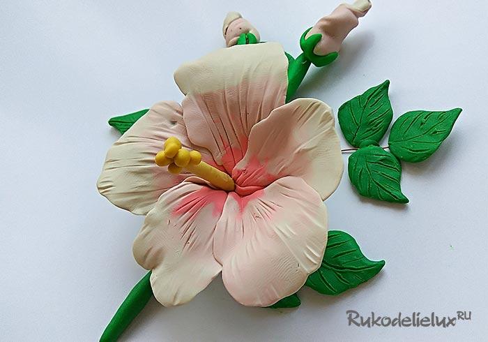 Цветы из пластилина