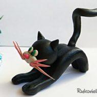 Как слепить кошку из пластилина