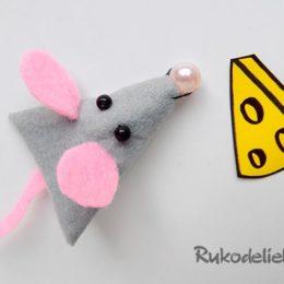 Как сделать мышку из фетра