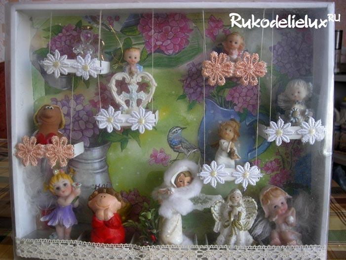 Органайзер для маленьких статуэток или игрушек из киндер-сюрприза