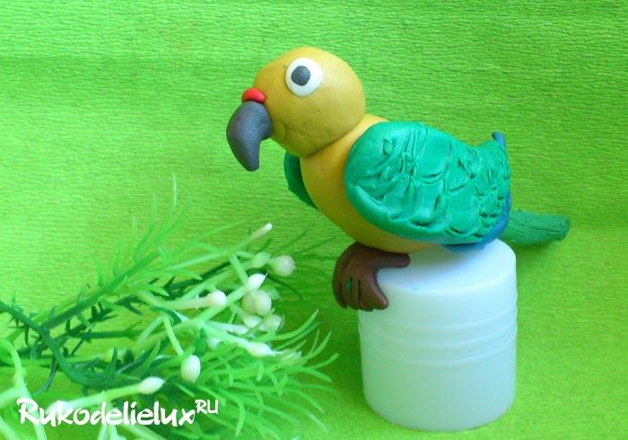 Птичка из пластилина ребенок 2 года