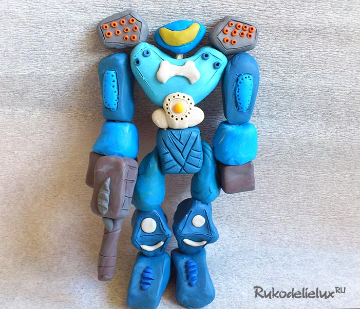 Робот поделка для мальчиков из пластилина