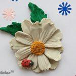 Как сделать ромашки из пластилина