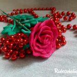 Как сделать розу из пластилина