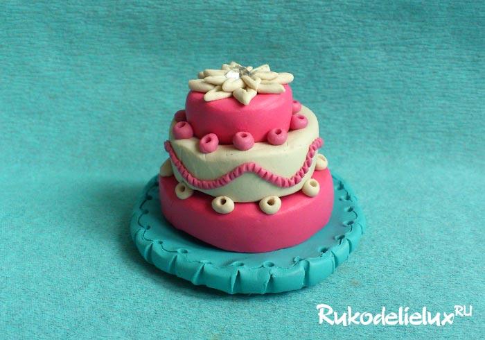 Торт из пластилина