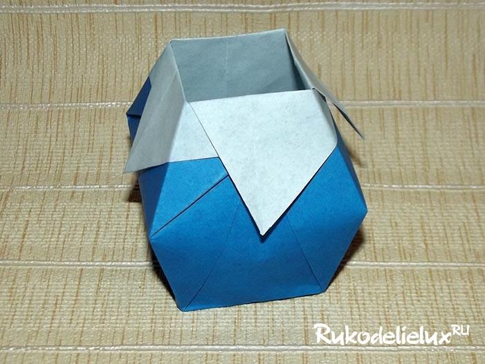 Как сделать вазу из бумаги в технике оригами