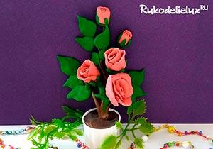 Веточка чайных роз