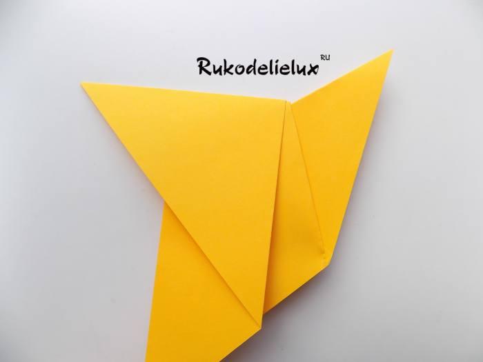 хвост птички из бумаги