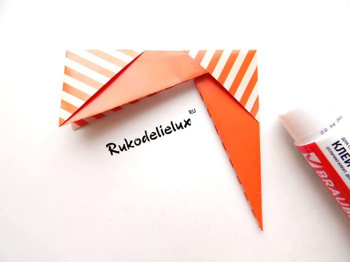 Сборка и проклеивание фоторамки в технике оригами