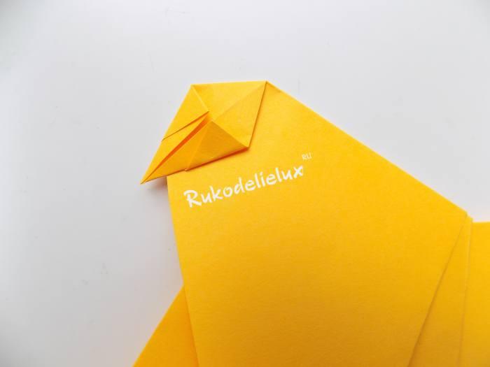 оригами из цветной бумаги