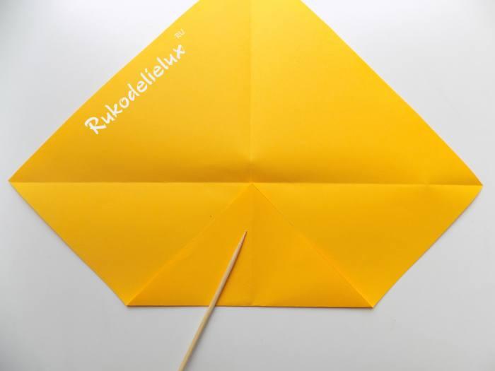 Птичка оригами из бумаги