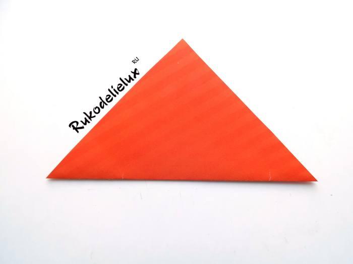 Складывание бумаги для фоторамки оригами