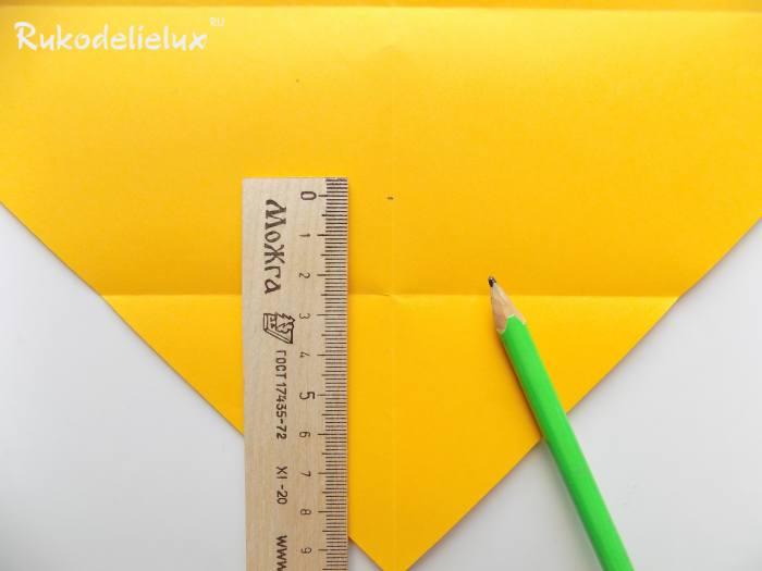 Птичка из бумаги в технике оригами